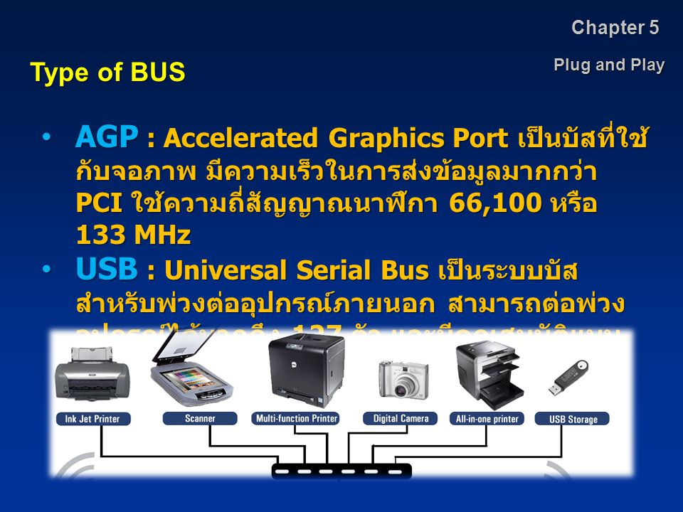 Chapter 5 Plug and Play. Type of BUS.