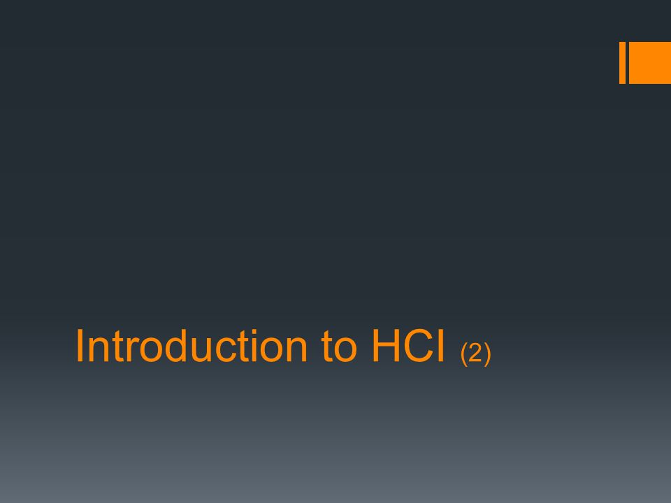 Introduction to HCI (2)
