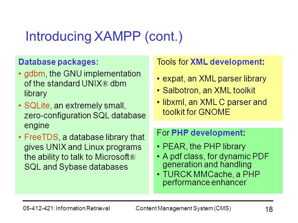 Introducing XAMPP (cont.)