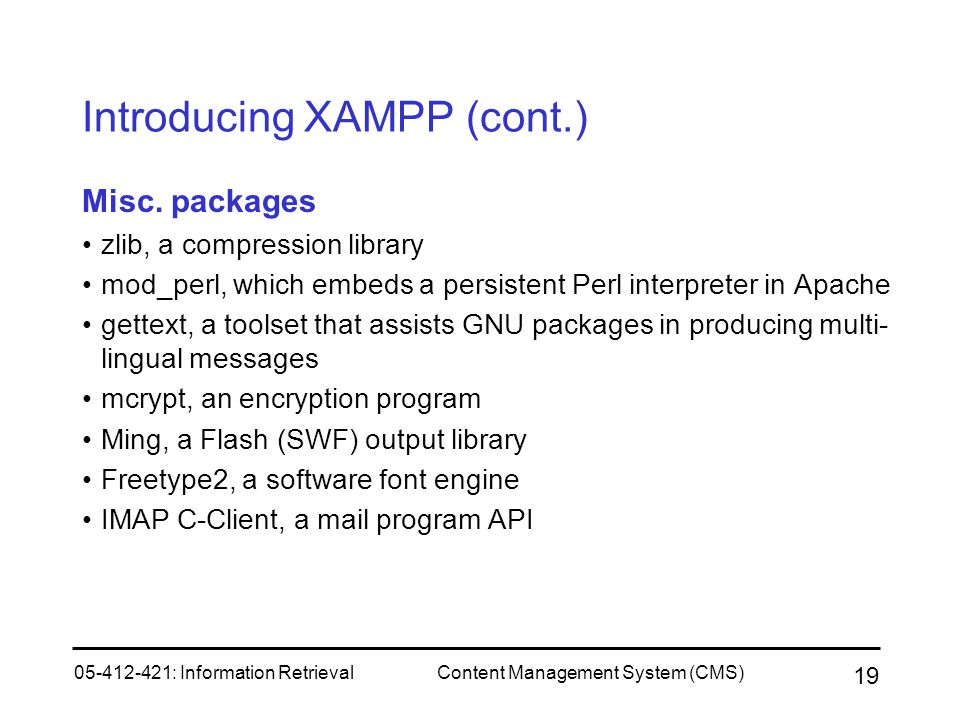 Introducing XAMPP (cont.)