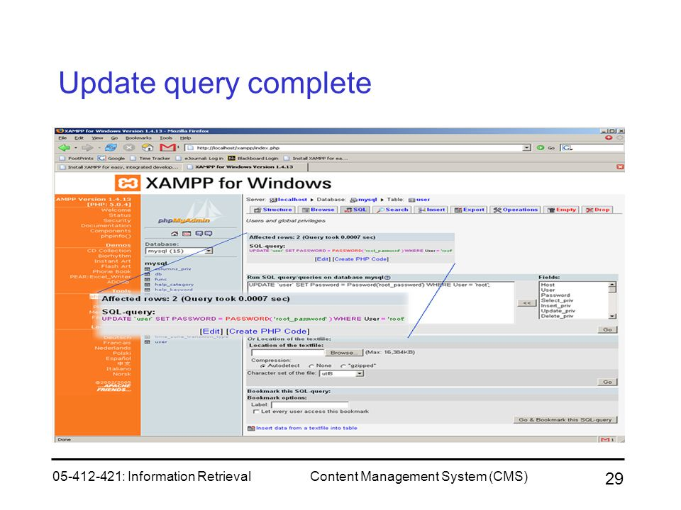 Update query complete 05-412-421: Information Retrieval