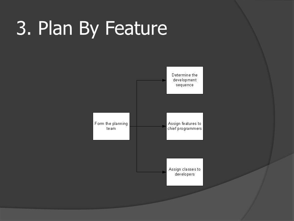 3. Plan By Feature