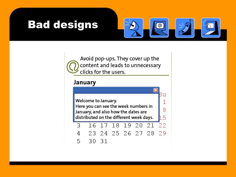 Bad designs