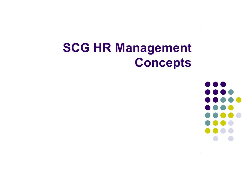 SCG HR Management Concepts