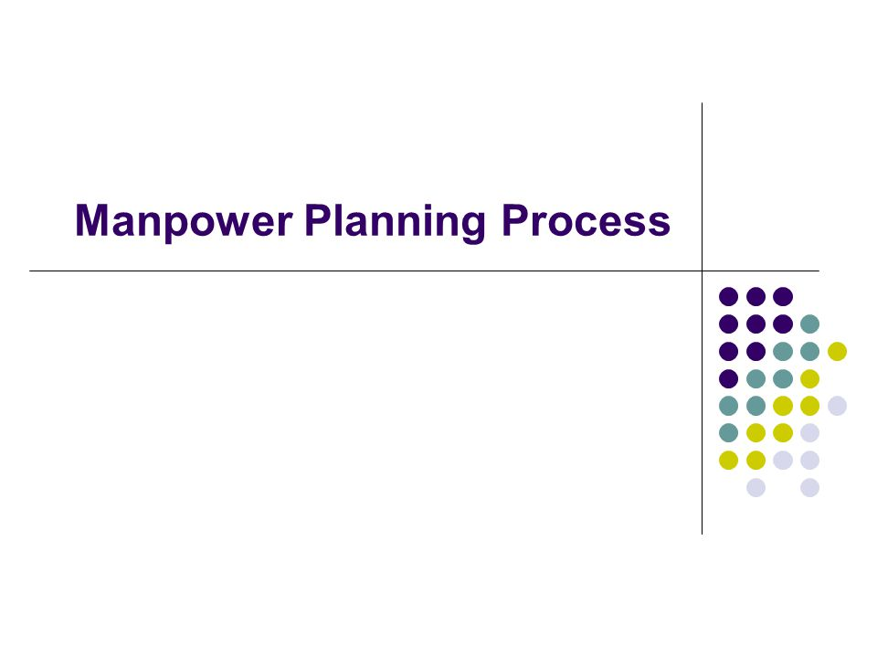 Manpower Planning Process