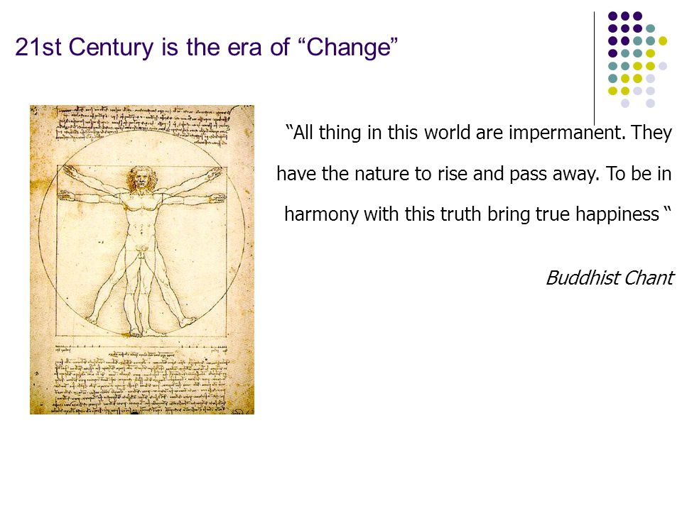 21st Century is the era of Change