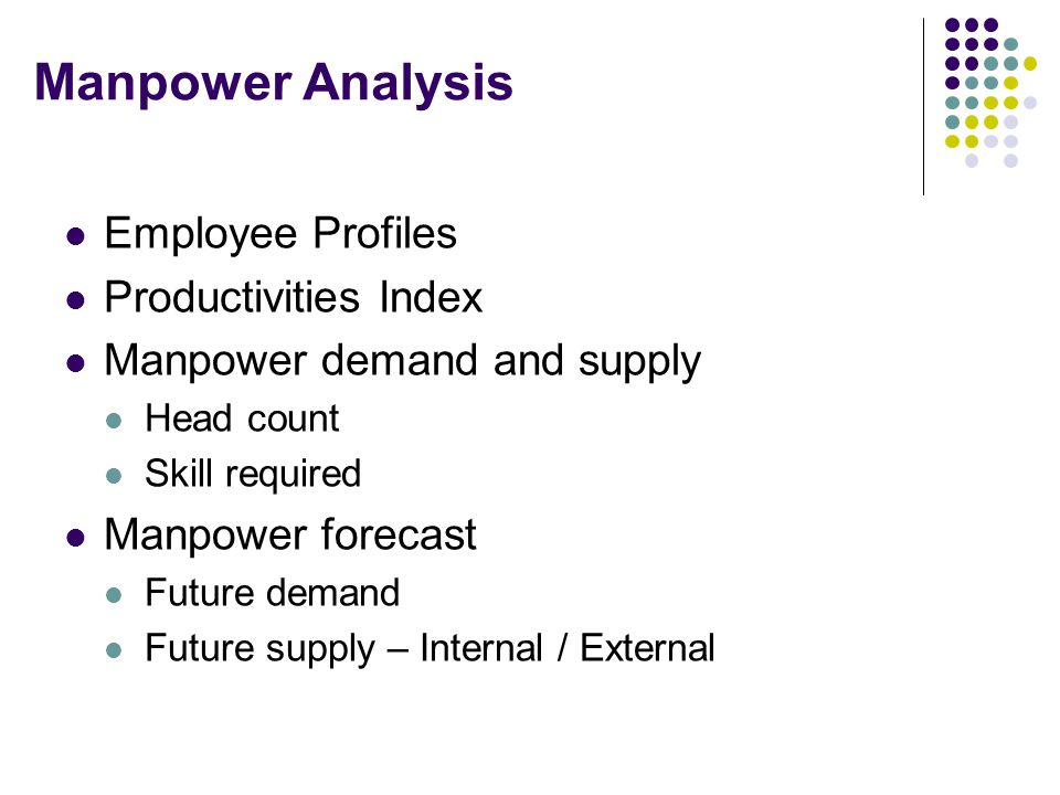 Manpower Analysis Employee Profiles Productivities Index