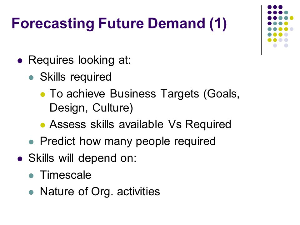 Forecasting Future Demand (1)