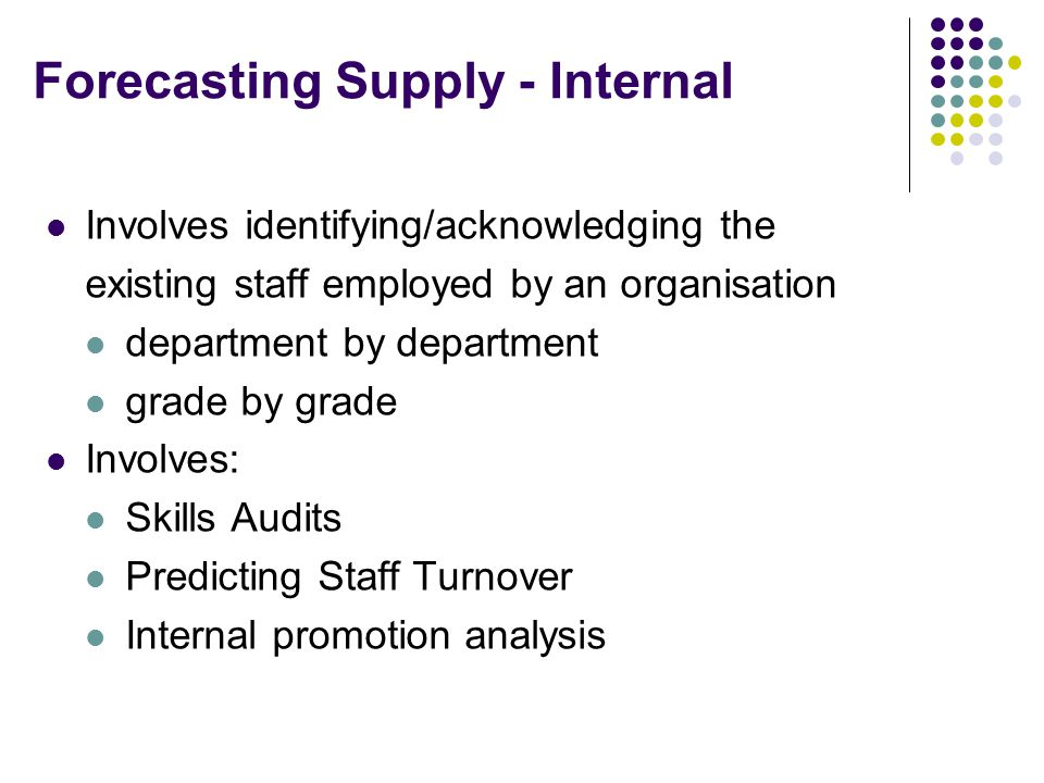 Forecasting Supply - Internal
