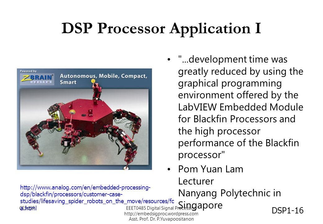 DSP Processor Application I