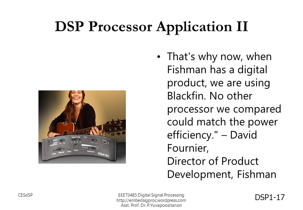 DSP Processor Application II