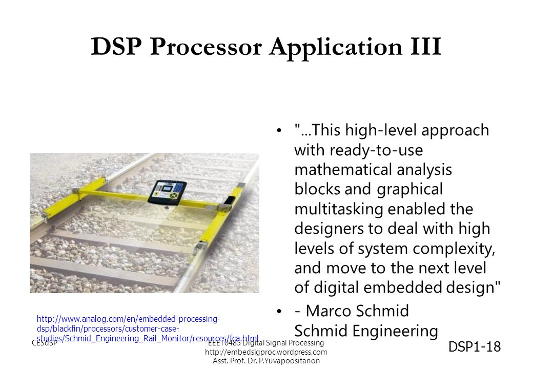 DSP Processor Application III