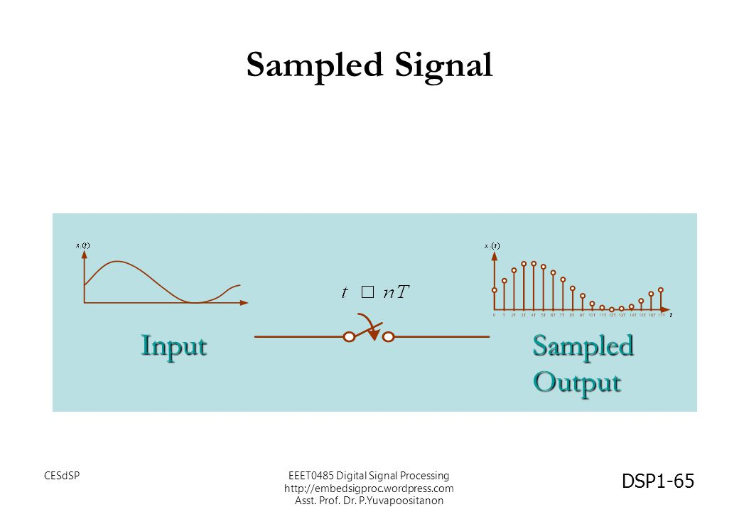 Sampled Signal Input Sampled Output CESdSP
