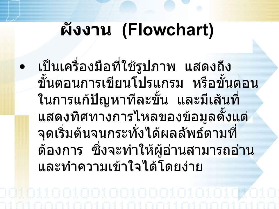 ผังงาน (Flowchart)