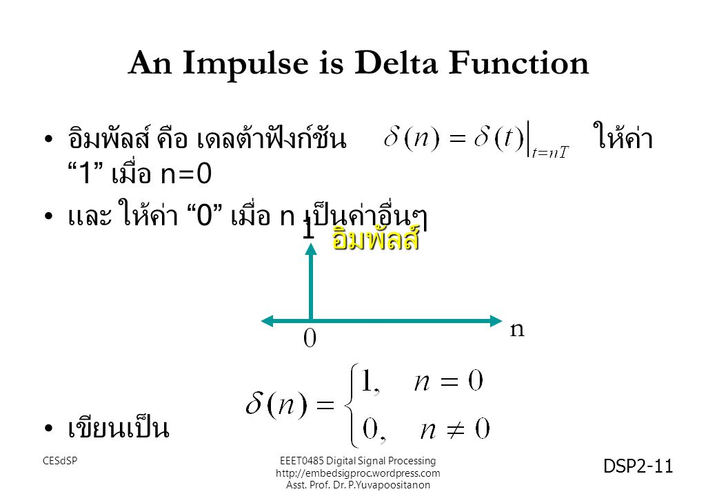 An Impulse is Delta Function