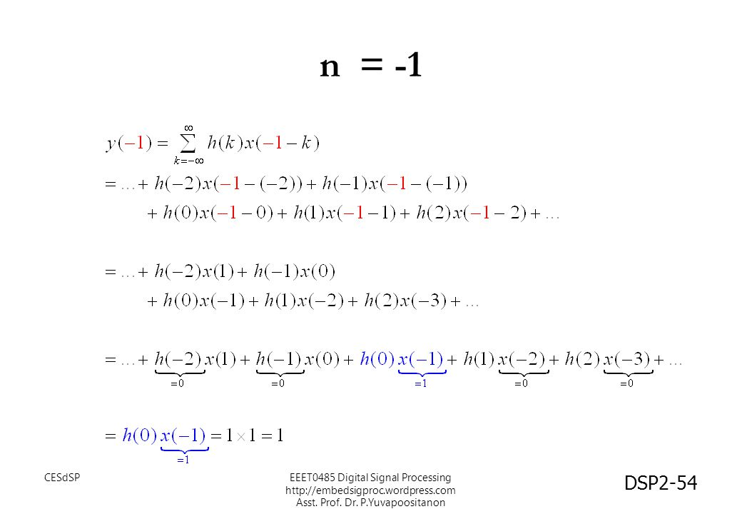 n = -1 CESdSP.