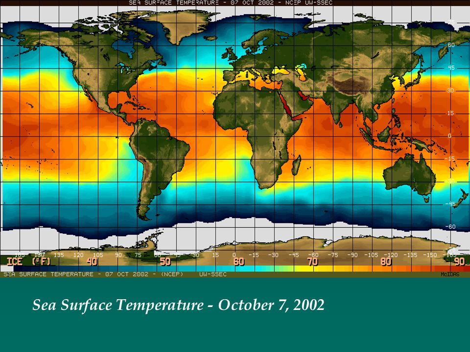 Sea Surface Temperature - October 7, 2002