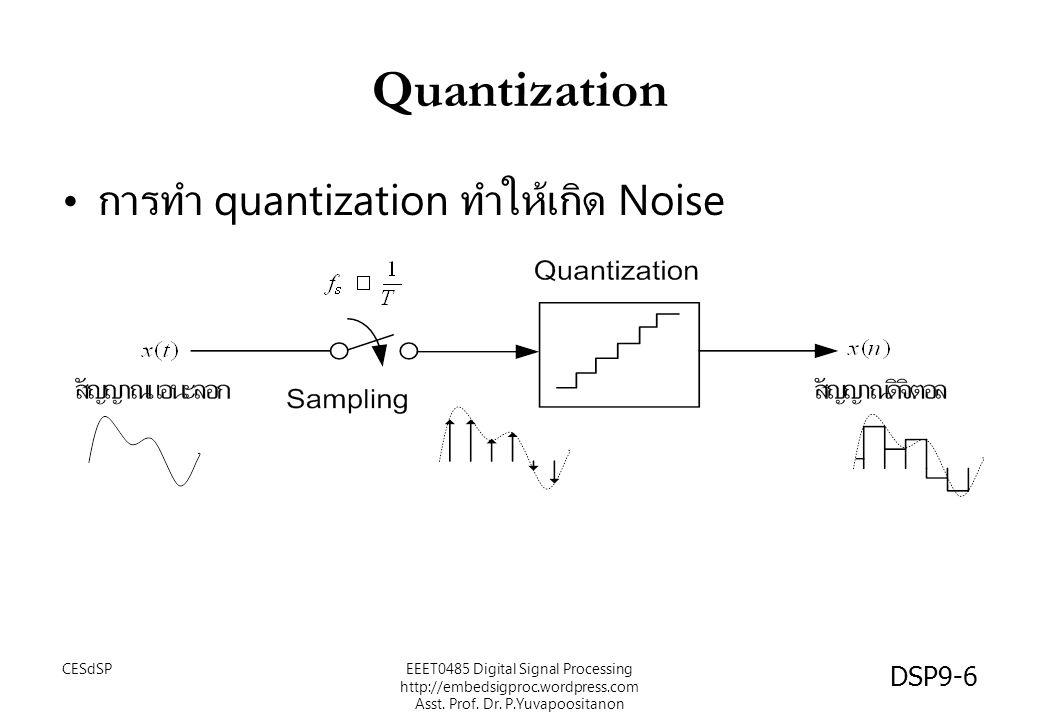 Quantization การทำ quantization ทำให้เกิด Noise CESdSP