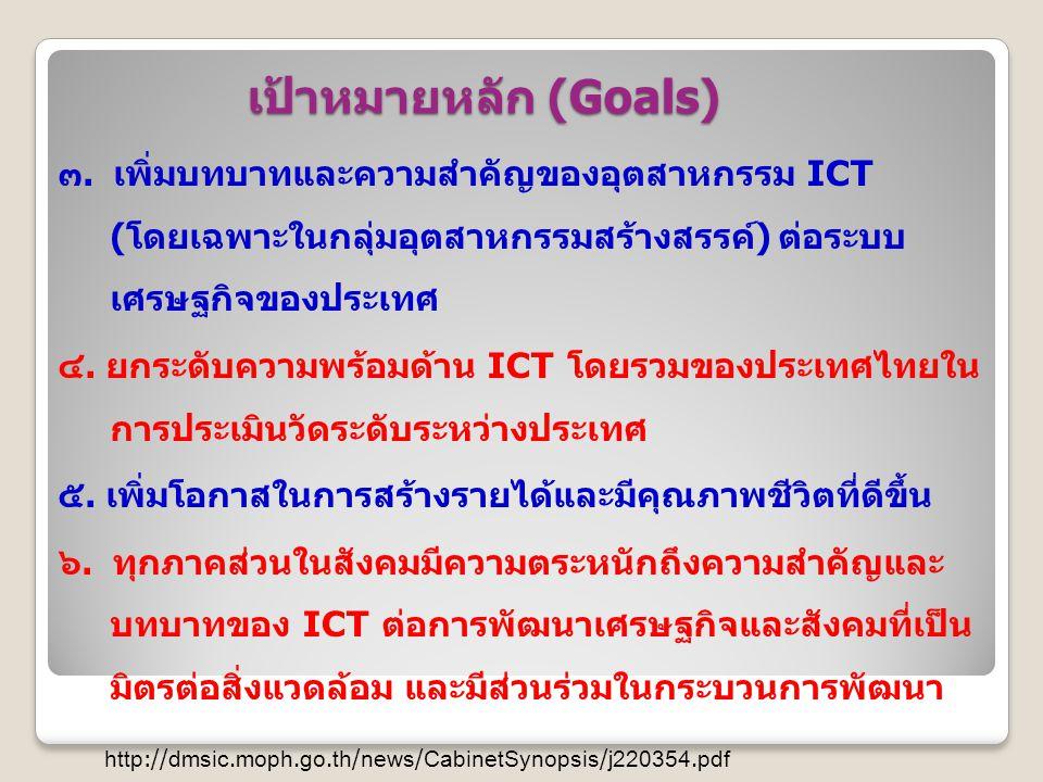 เป้าหมายหลัก (Goals)
