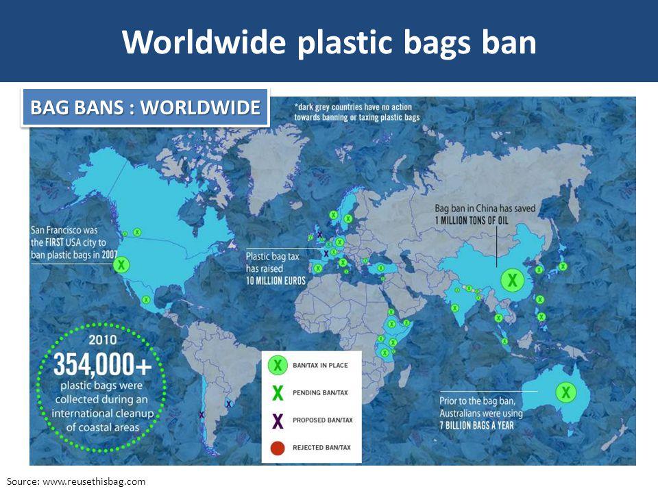 Worldwide plastic bags ban