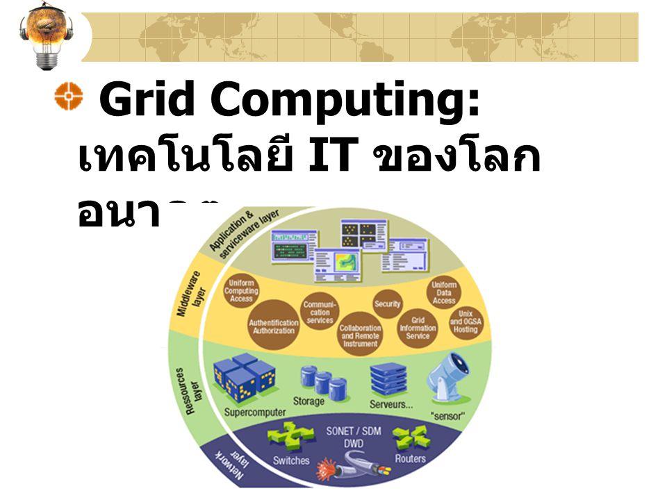 Grid Computing: เทคโนโลยี IT ของโลกอนาคต