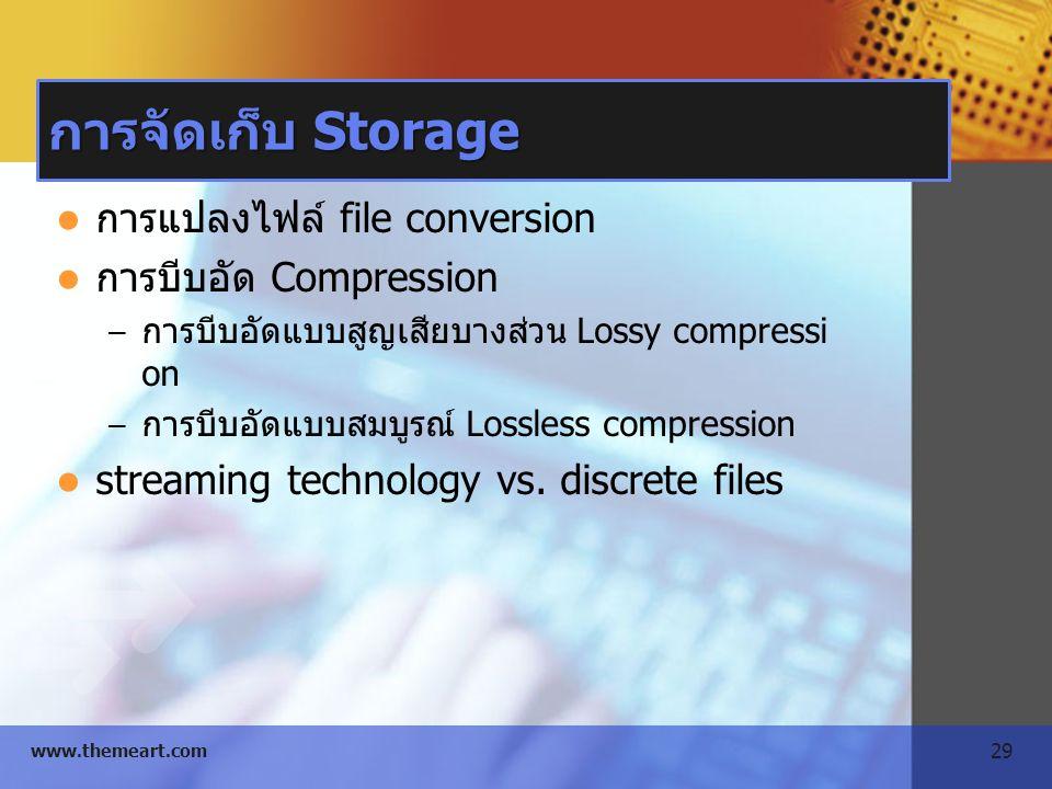 การจัดเก็บ Storage การแปลงไฟล์ file conversion การบีบอัด Compression