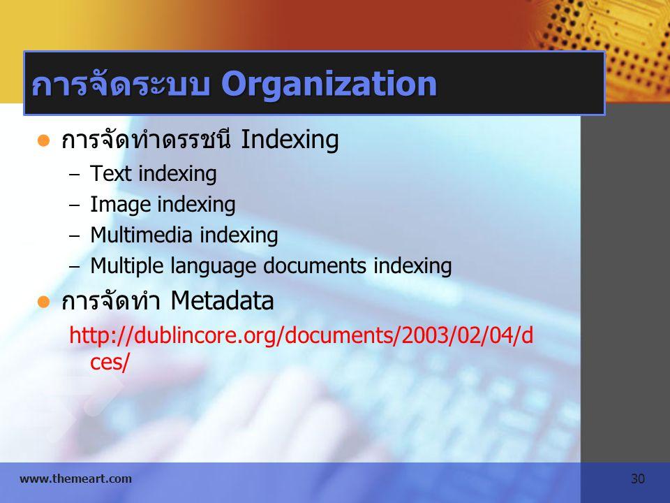 การจัดระบบ Organization