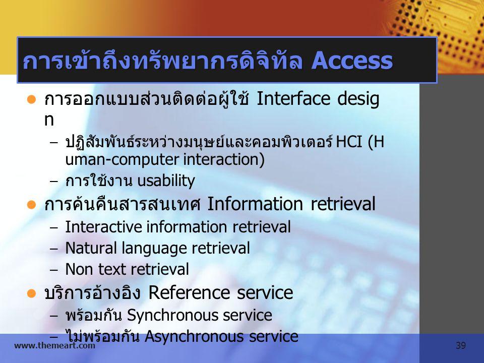 การเข้าถึงทรัพยากรดิจิทัล Access