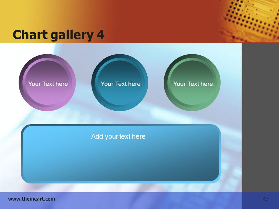 Chart gallery 4 Your Text here Add your text here