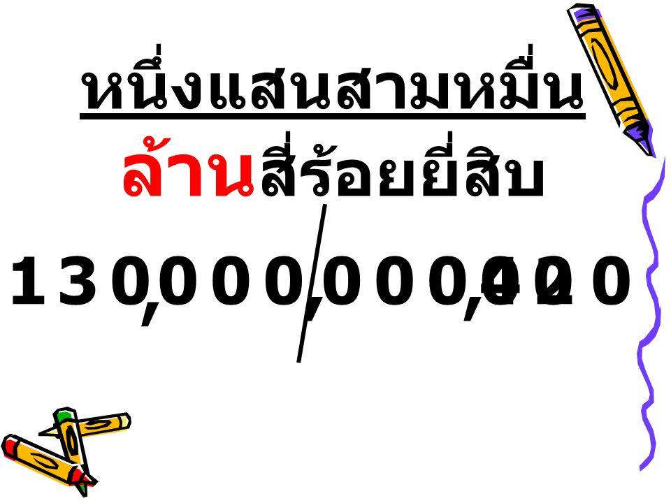 หนึ่งแสนสามหมื่นล้านสี่ร้อยยี่สิบ