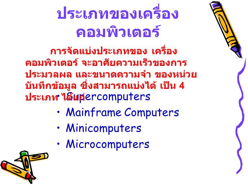 ประเภทของเครื่องคอมพิวเตอร์