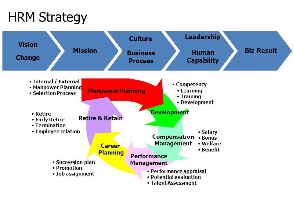 HRM Strategy Leadership Human Capability Culture Vision Mission