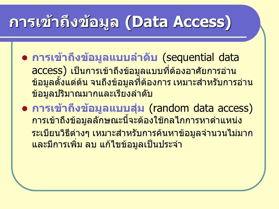 การเข้าถึงข้อมูล (Data Access)
