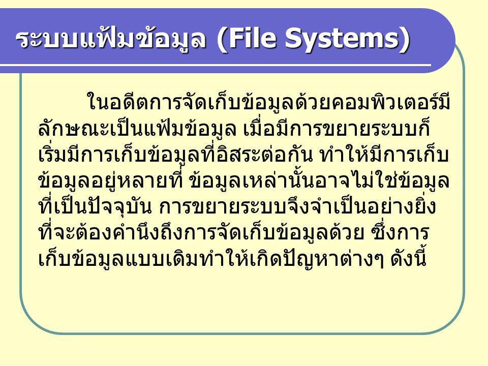 ระบบแฟ้มข้อมูล (File Systems)