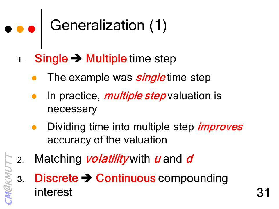 Generalization (1) Single  Multiple time step