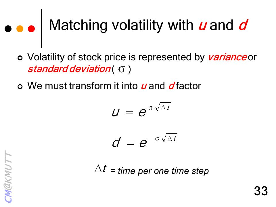 Matching volatility with u and d