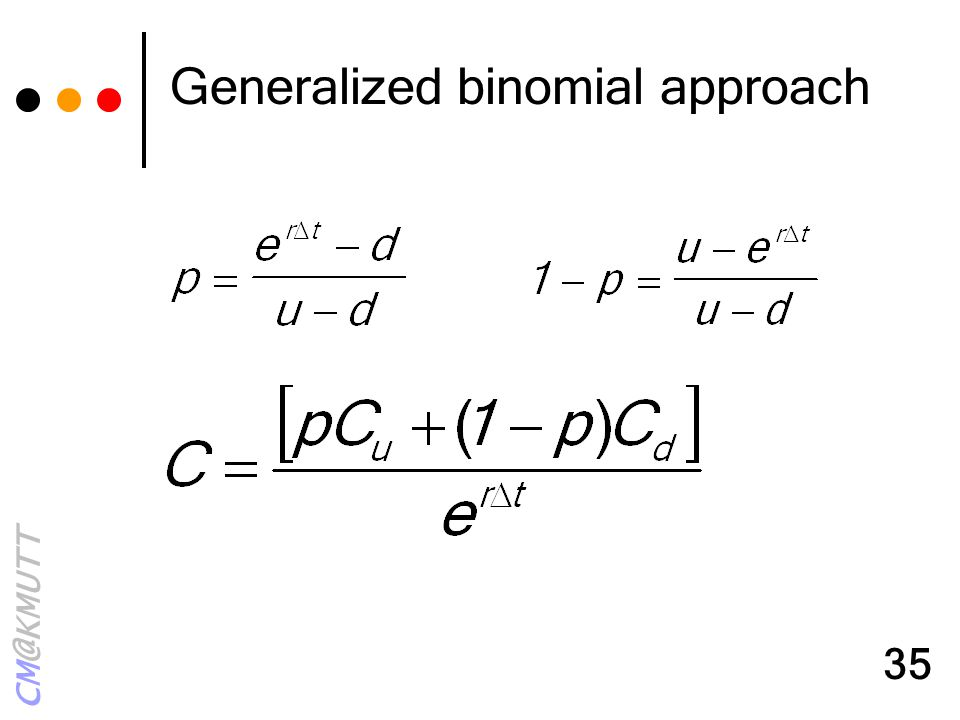 Generalized binomial approach