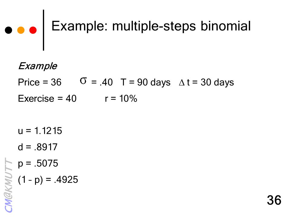 Example: multiple-steps binomial