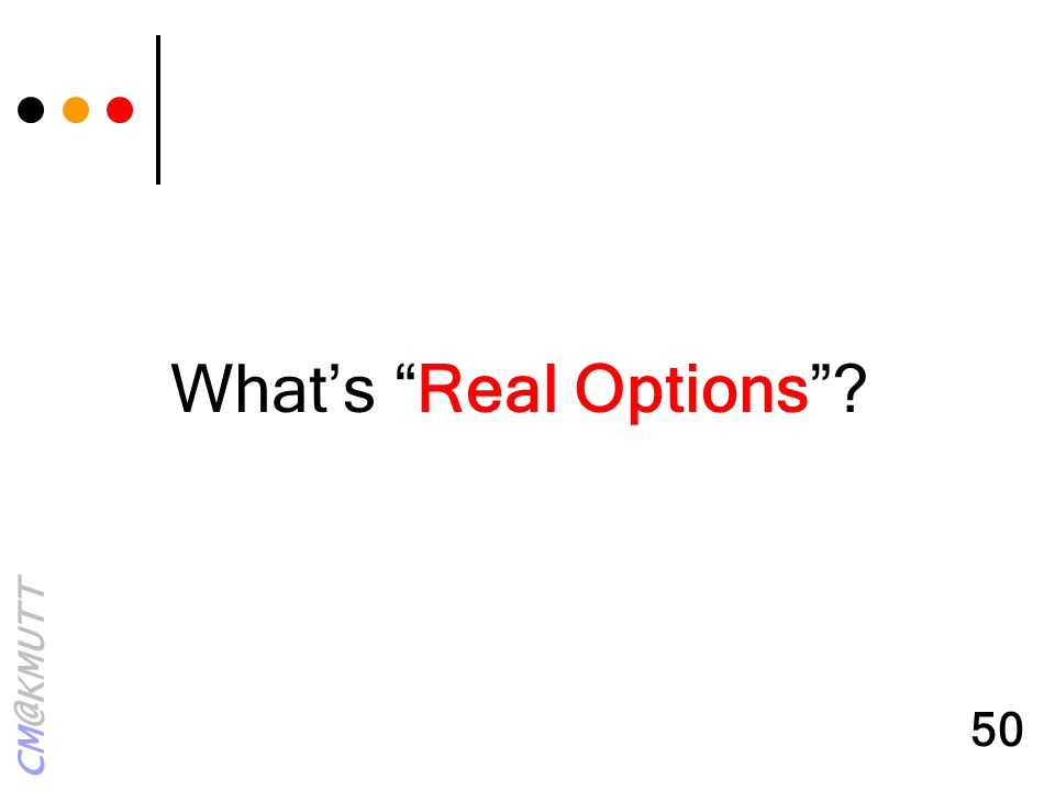 What's Real Options