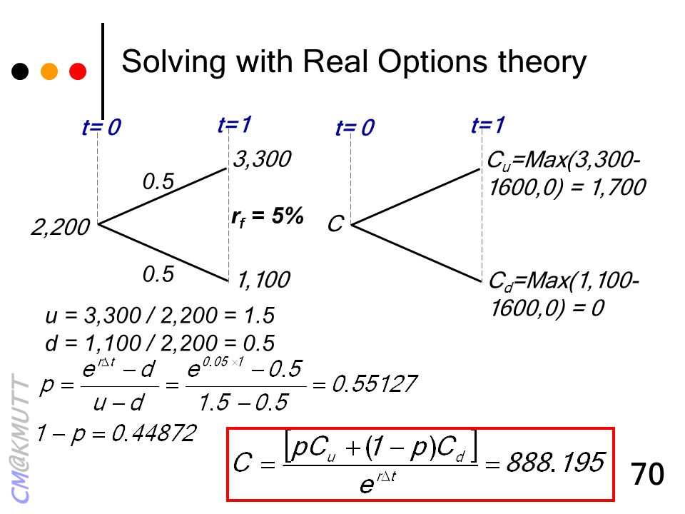 Solving with Real Options theory
