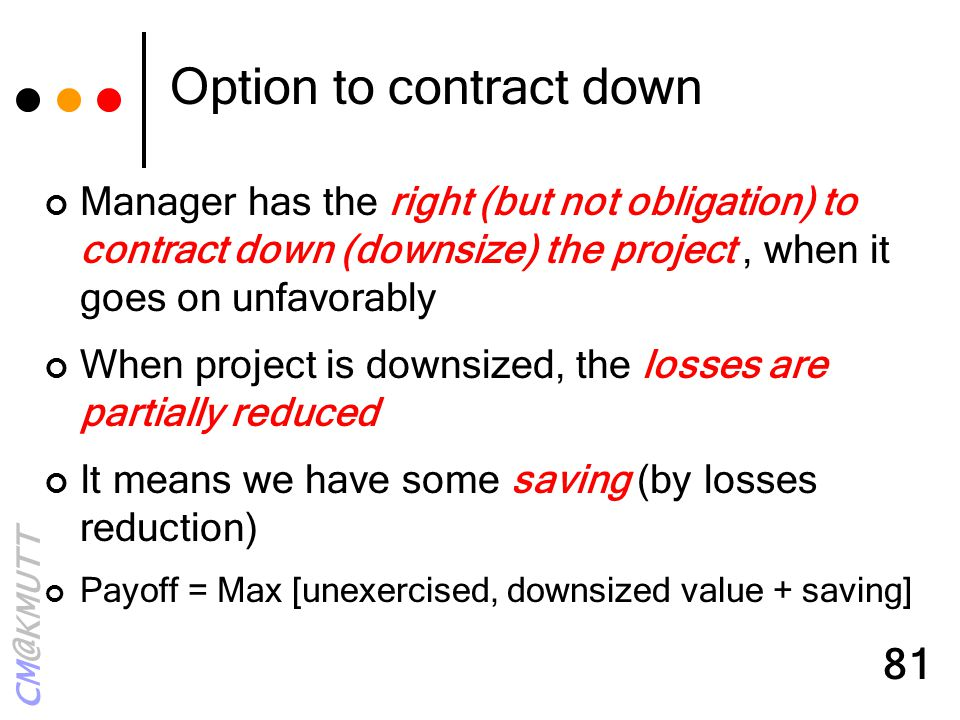 Option to contract down