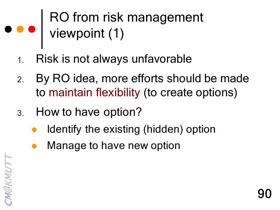 RO from risk management viewpoint (1)