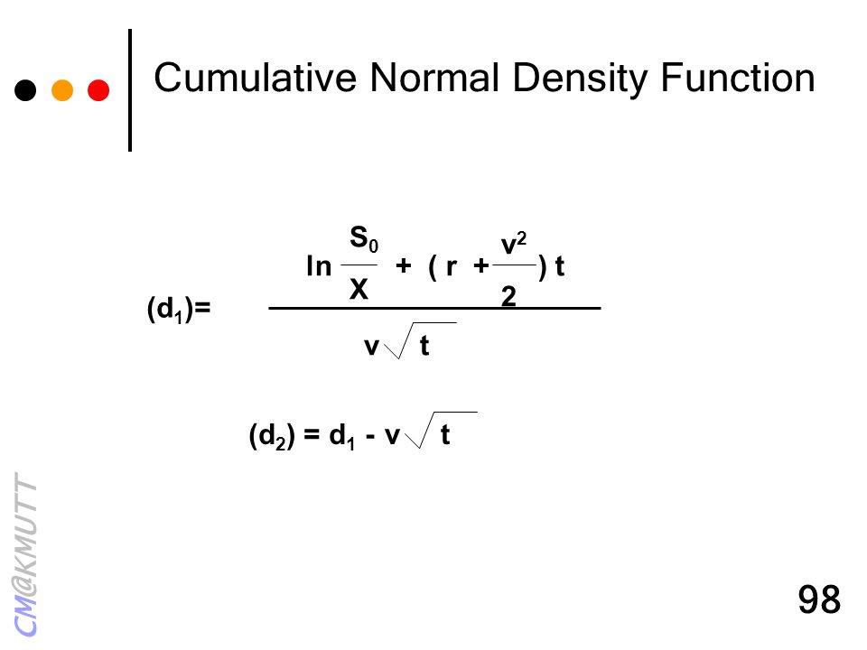 Cumulative Normal Density Function