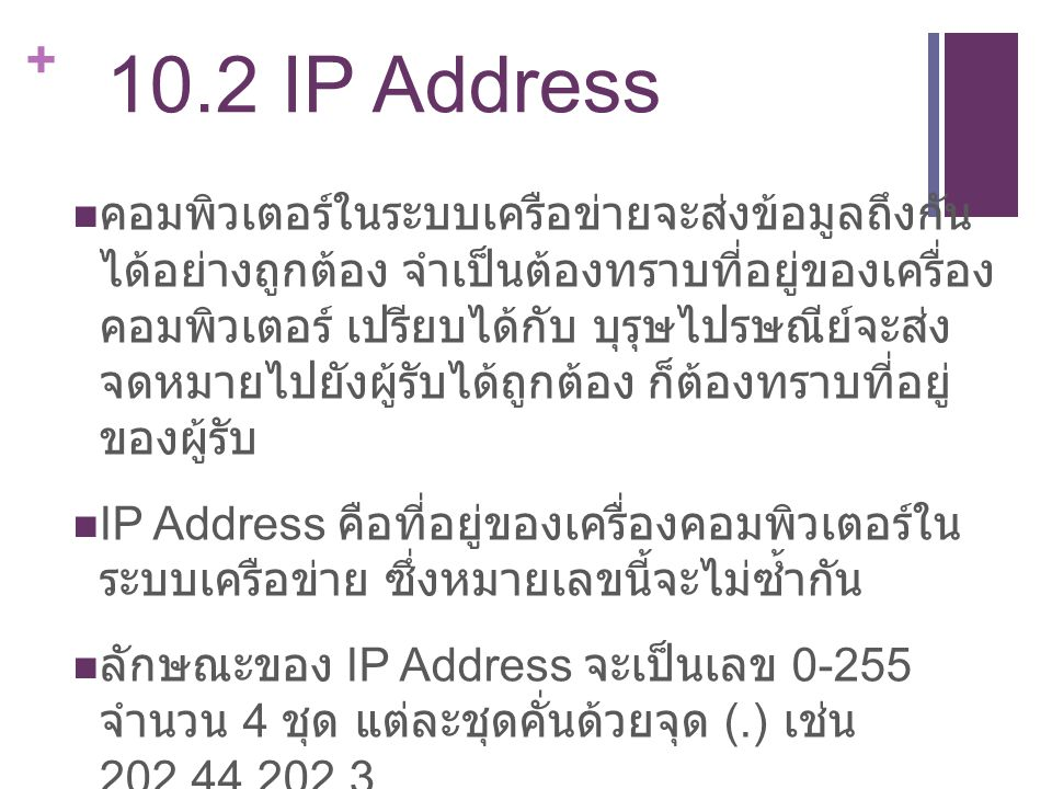 10.2 IP Address