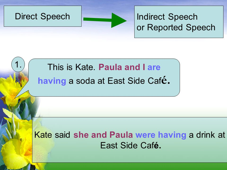 This is Kate. Paula and I are having a soda at East Side Café.