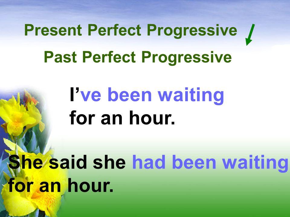 Present Perfect Progressive Past Perfect Progressive