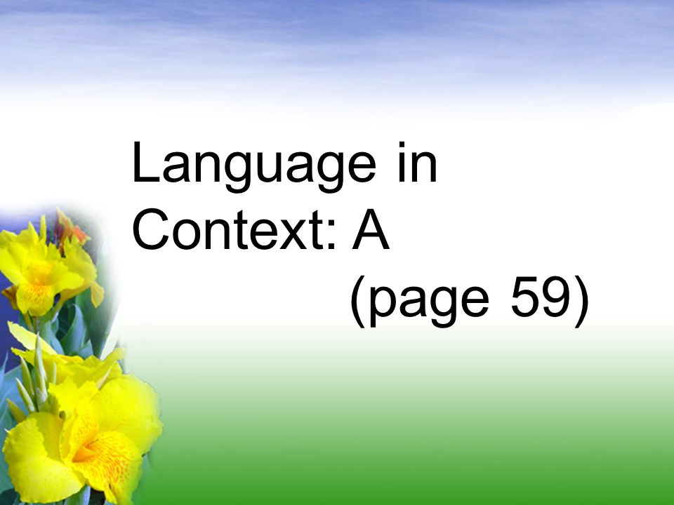 Language in Context: A (page 59)