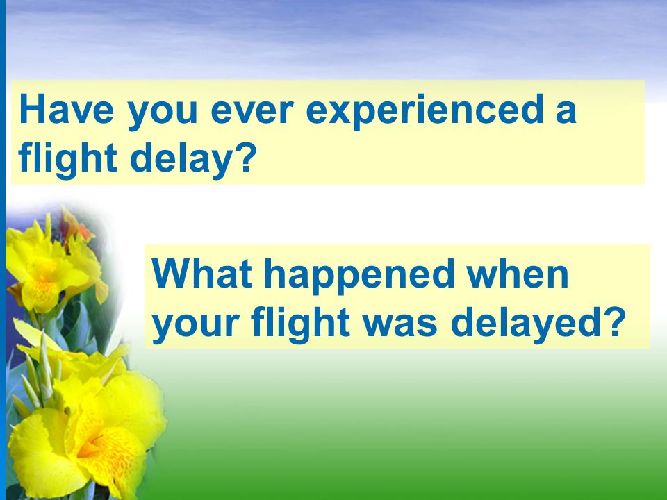 Have you ever experienced a flight delay