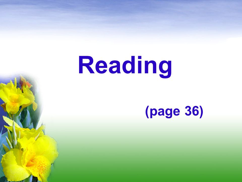 Reading (page 36)