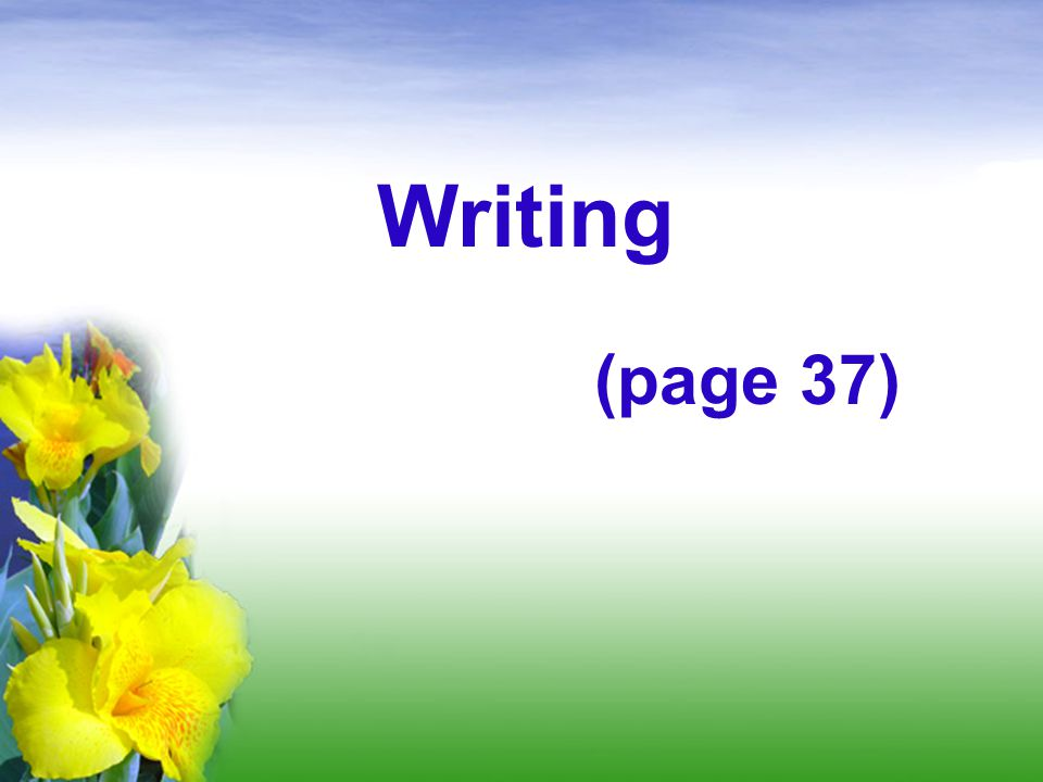 Writing (page 37)
